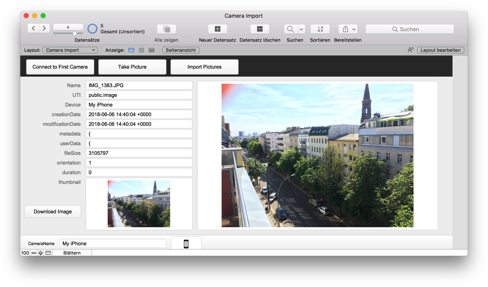 MBS Blog - Import images from cameras on MacOS with FileMaker