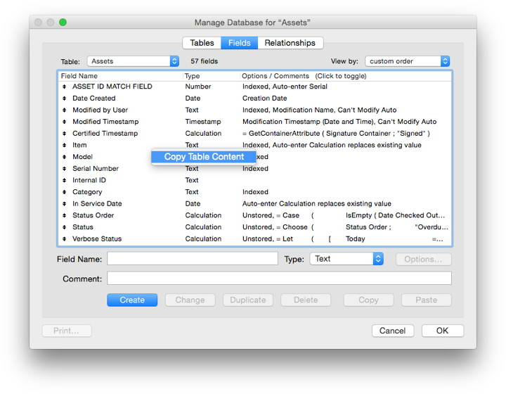MBS Blog - Copy Table Content Menu Command for FileMaker on Mac