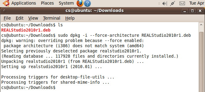 MBS Blog - How to install REALbasic on a 64 bit Linux (Ubuntu)